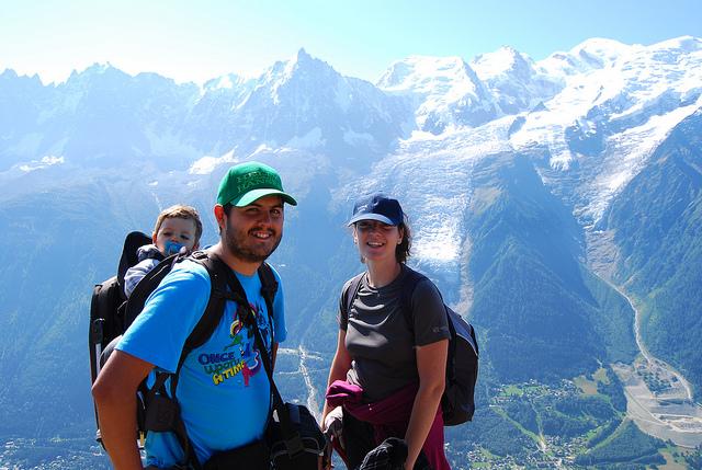 Pau, Vero y Teo en los Alpes Franceses